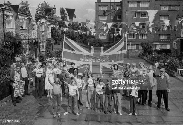 Street competitions during the Silver Jubilee of Queen Elizabeth II UK 13th June 1977