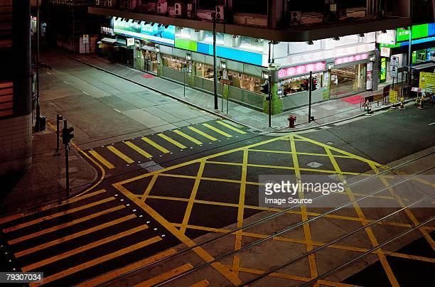 Street corner in hong kong