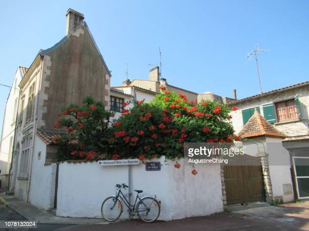 street corner in saint-georges-de-didonne - charente stock pictures, royalty-free photos & images