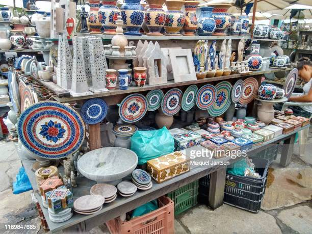 street crafts in ouro preto, minas gerais state - brazil - preto stock pictures, royalty-free photos & images