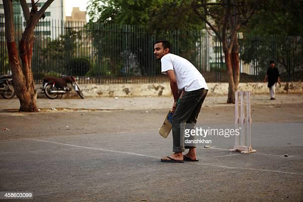 Street Cricket on Karachi Roads, Pakistan