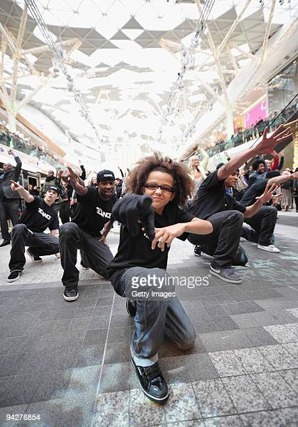Street Dance group 'Diversity' give shoppers an early Christmas present with an impromptu performance as part of a 'Flash mob' for new Sky 1 HD...
