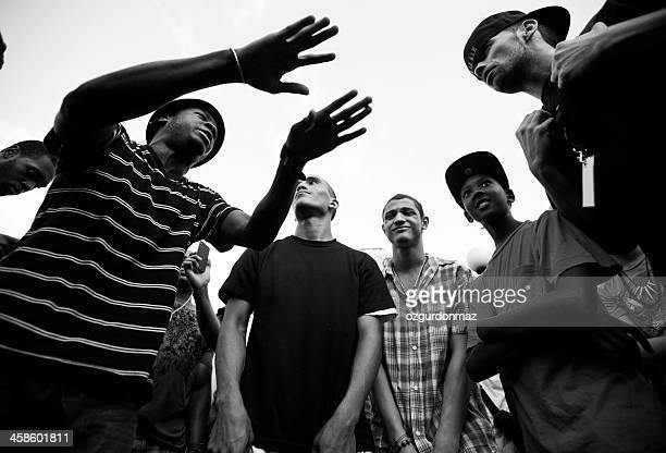 dançarinos de rua - hip hop - fotografias e filmes do acervo