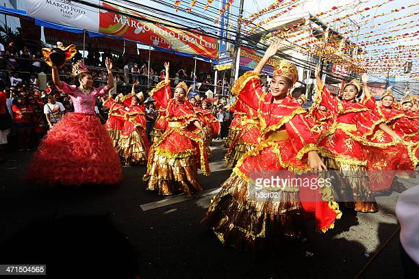 street dancing - sinulog festival stock photos and pictures