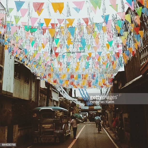 Street Decorated With Bunting