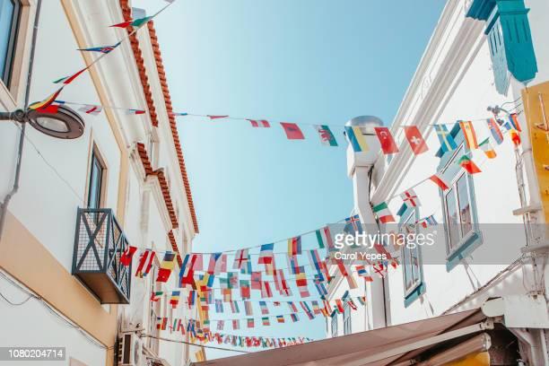 street decoration in albufeira,algrave,portugal - faro city portugal fotografías e imágenes de stock