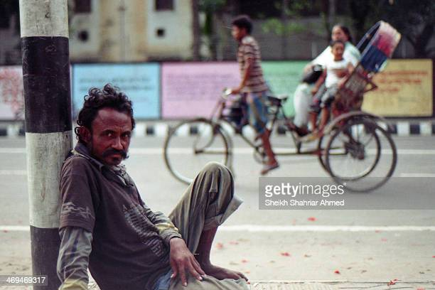 Street dweller, passes his days and nights in the streets of DU campus. He has no fancy dresses, can't get enough food, maybe he is addicted to some...