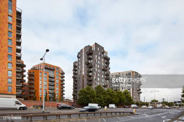Street elevation and housing blocks Canning Town London United Kingdom Architect N/A 2017