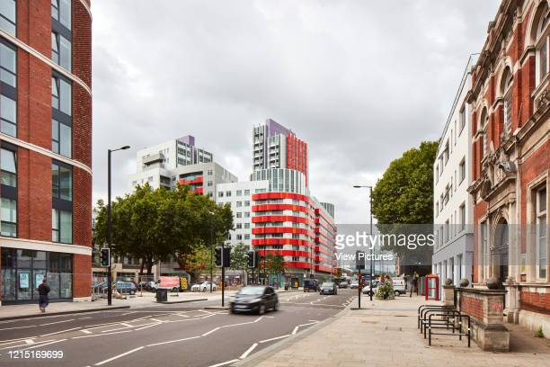 Street elevation and housing blocks housing block Canning Town London United Kingdom Architect N/A 2017