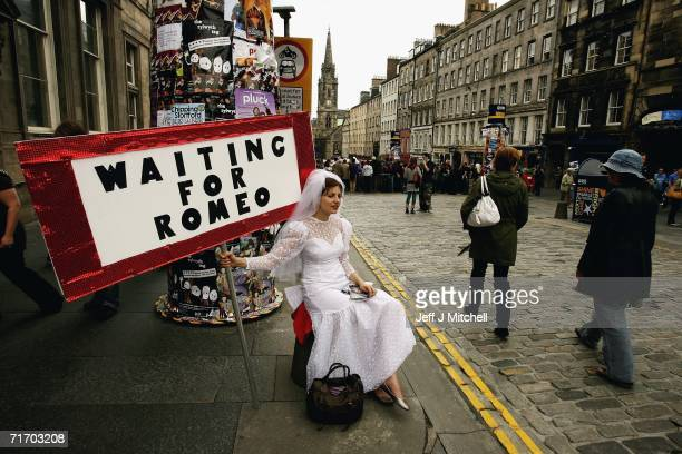 Street entertainers perform on the Royal Mile as part of the Fringe during the Edinburgh Festival on August 23, 2006 in Edinburgh, Scotland.