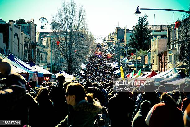 CONTENT] A street fair on a sunny day draws a large crowd The Katoomba Winter Magic Festival is an annual event which takes place in June in the Blue...