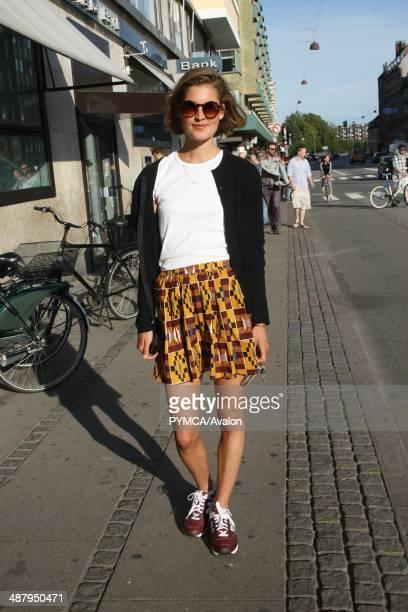 Street fashion portrait Norrebro Copenhagen Denmark July 2012
