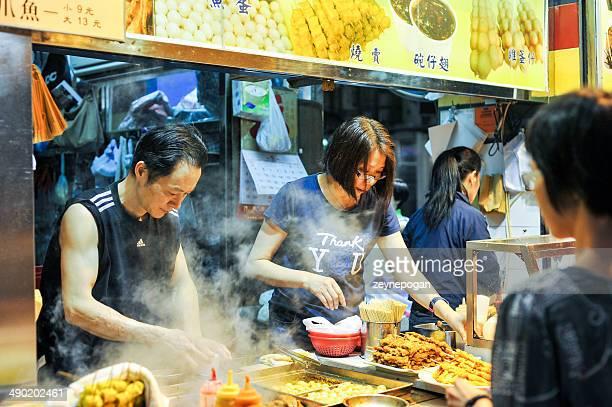 Street fast food in Wanchai, Hong Kong