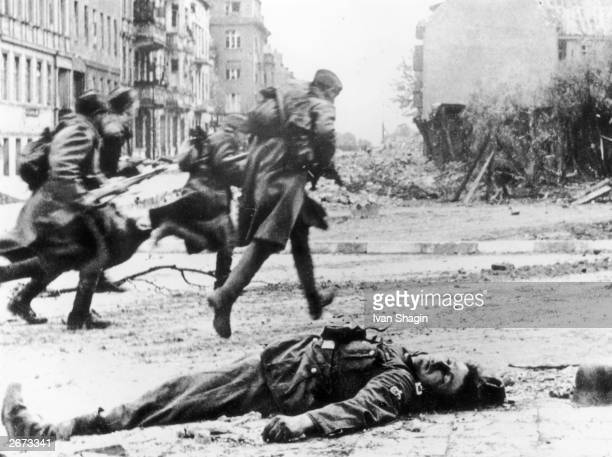 Street fighting at Berlin during the battle to gain control of the capital