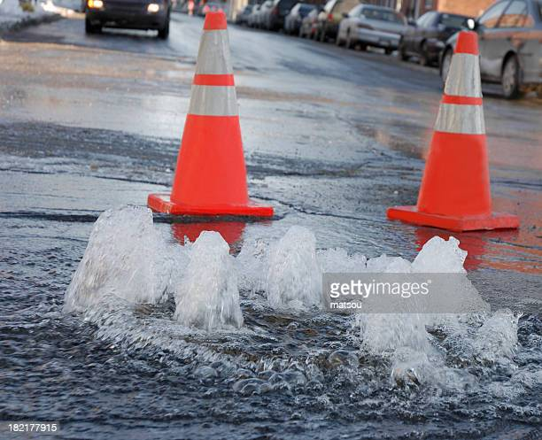 street flooding. - leaking stock pictures, royalty-free photos & images