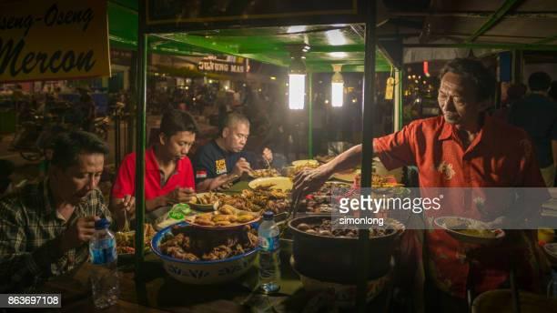 street food at malioboro street, indonesia - yogyakarta stock pictures, royalty-free photos & images