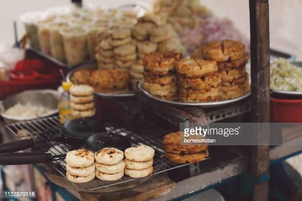 street food for sale - bortes stock-fotos und bilder