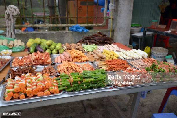 Street food  in city of Sa Pa, Northern Vietnam
