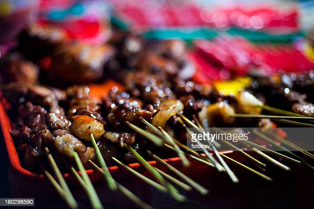 Street food in Philippines - Skewers