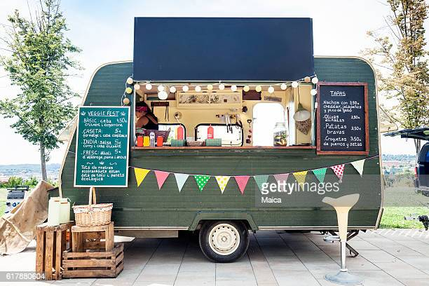 street food in the park - van stock pictures, royalty-free photos & images