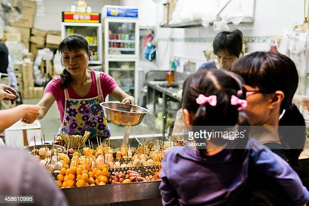 street food macau china - macao stock pictures, royalty-free photos & images