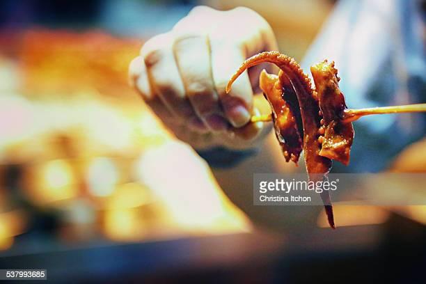 Street food squid/octopus tentacles