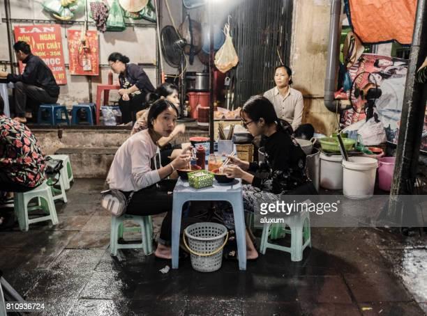 Street food stall Hanoi Vietnam