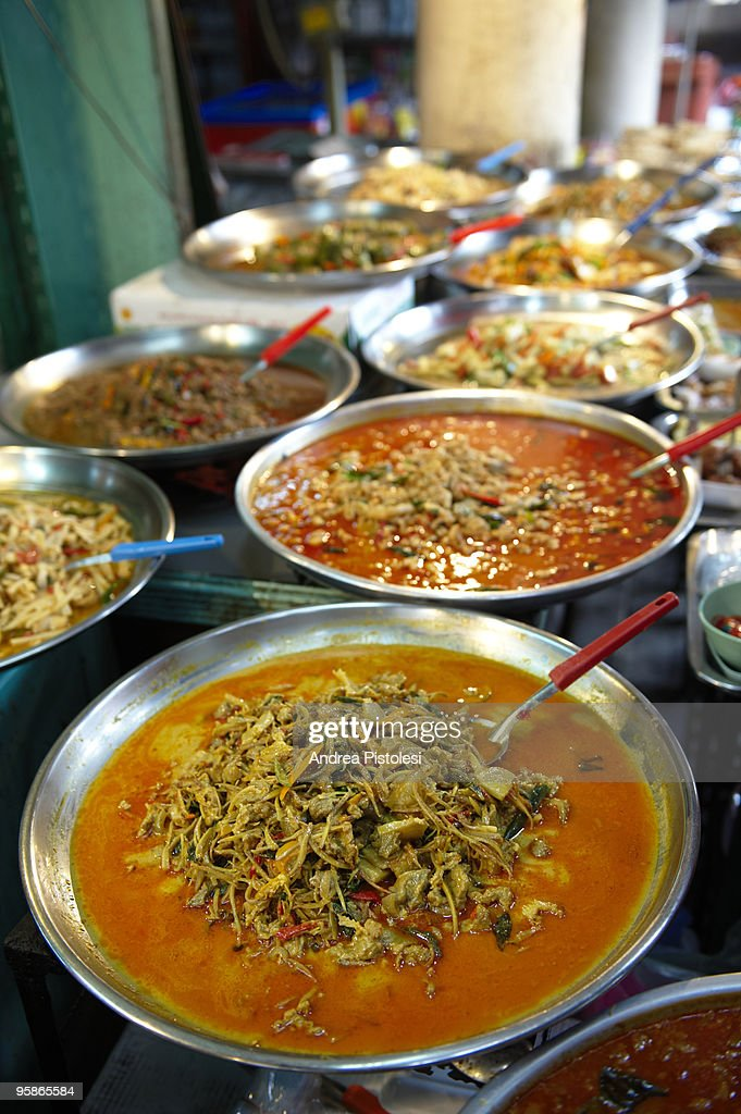 Street food stall in Bangkok : Stock Photo