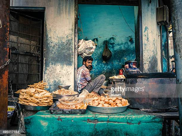 Street food stall in Bikaner Rajasthan India