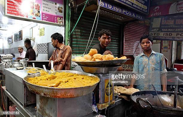 Calle de los proveedores, India.
