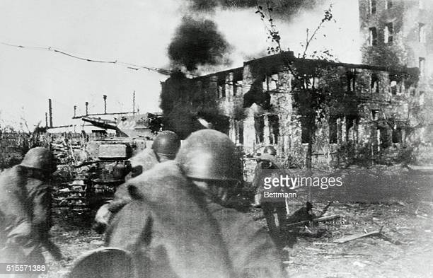 Street Hunt Stalingrad USSR In one of the outskirts of Stalingrad where each street is a small furious battleground Russian soldiers head toward one...