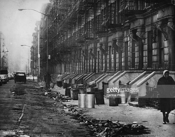 A street in a slum area of Harlem