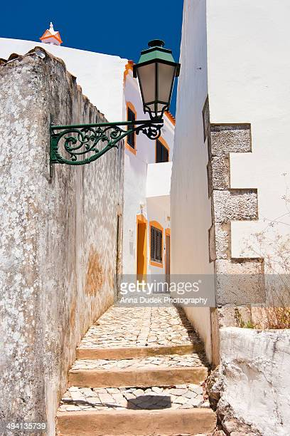 street in alte, portugal. - algarve stock photos and pictures
