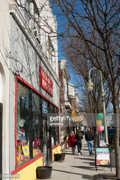 street in ardmore of pennsylvania - ardmore pennsylvania stock pictures, royalty-free photos & images
