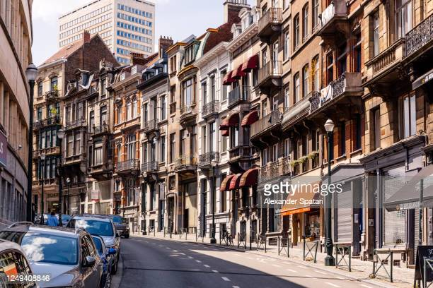street in brussels, belgium - brussels capital region stock pictures, royalty-free photos & images