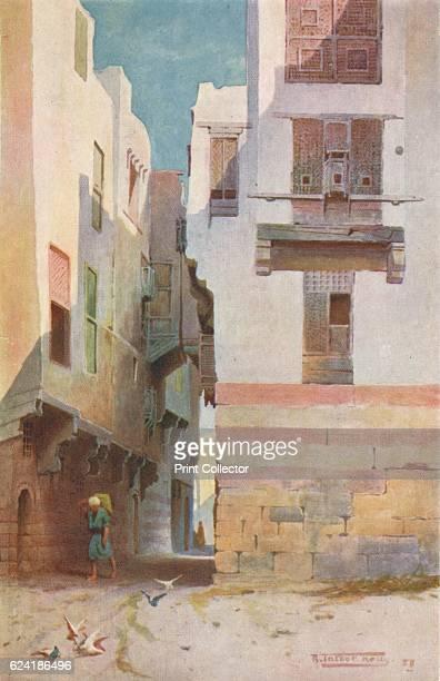 A Street in Bulak' c1880 From Egypt by R Talbot Kelly [Adam Charles Black London 1904] Artist Robert George Talbot Kelly