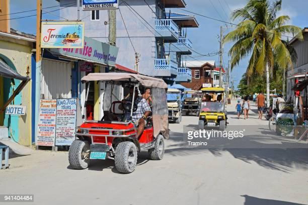 Street in Caye Caulker in Belize