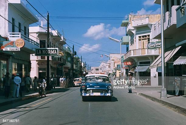 A street in Ciudad Trujillo later Santo Domingo in the Dominican Republic circa 1960