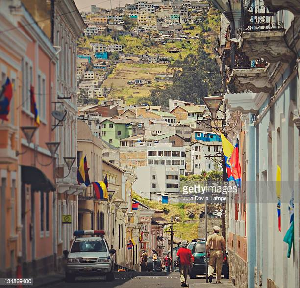 Street in colonial Quito