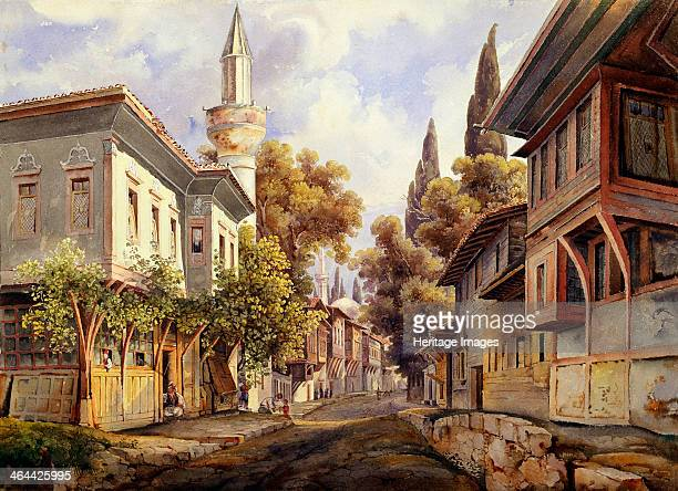 'A Street in Constantinople' 1835 Found in the collection of the State A Pushkin Museum of Fine Arts Moscow