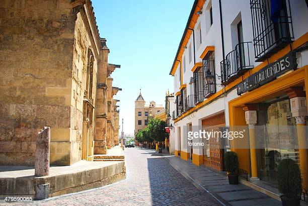 street in cordoba - cordoba mosque stock pictures, royalty-free photos & images