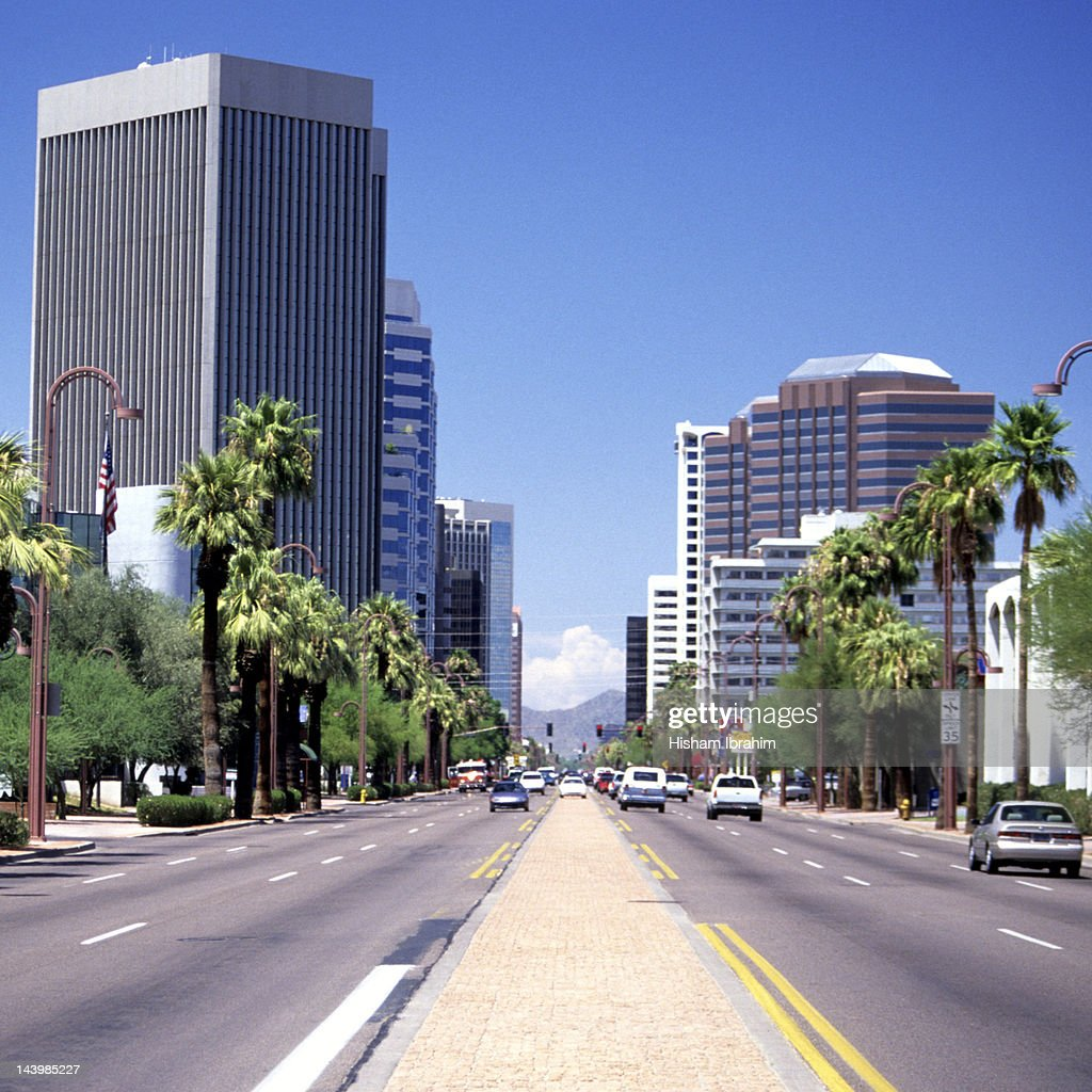 Street in downtown district, Phoenix, Arizona, USA : Stock Photo