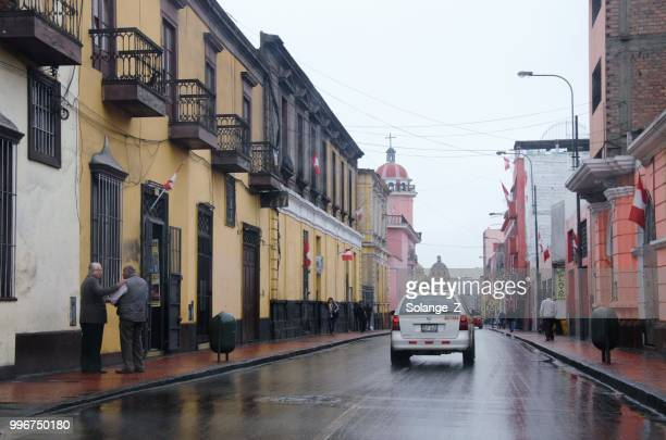 street in downtown lima in peru - lima stock pictures, royalty-free photos & images