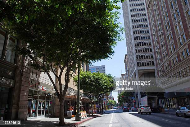 Street in downtown Los Angeles, USA