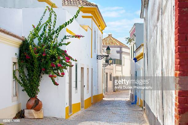 street in faro. - faro city portugal fotografías e imágenes de stock