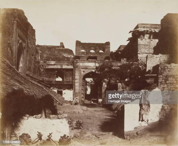 Street in Fatehpur Sikri, India, 1858-62. Artist John Murray.