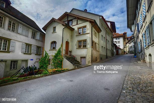 Street in Fribourg, Switzerland