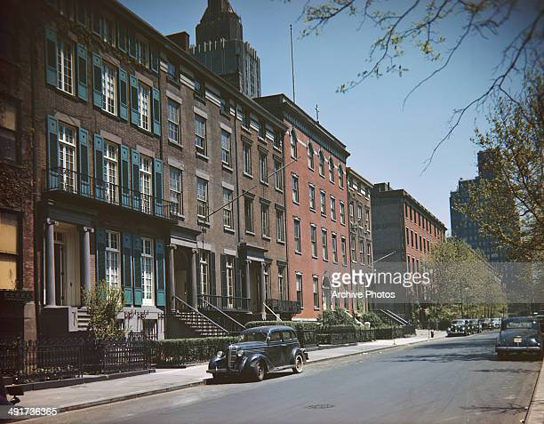 A street in Greenwich Village New York City USA circa 1965