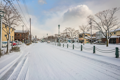 Street in Hakodate in Winter - gettyimageskorea