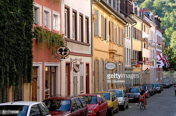 street in heidelberg - heidelberg germany stock pictures, royalty-free photos & images
